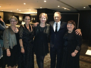 Professor Suzanne Purdy, Laura Fogg and Alison Talmage meet RMTC founders Hinewehi Moha and husband George Bradfield.