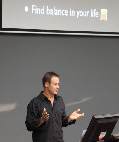 Dr Mark Sagar addresses the Inaugural CBR PhD Student Day